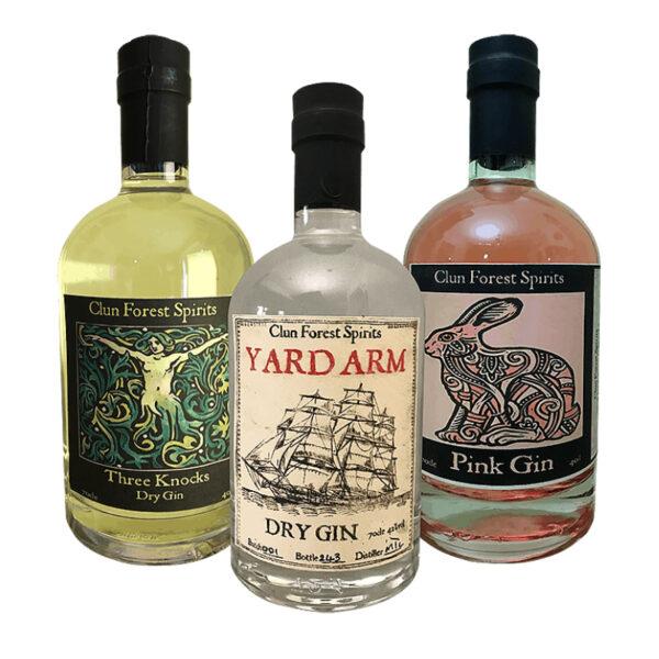 Trio of Gins Craft Gin Shropshire